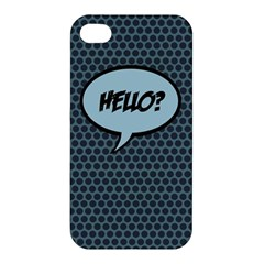 Hello Apple Iphone 4/4s Premium Hardshell Case by PaolAllen2
