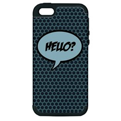 Hello Apple Iphone 5 Hardshell Case (pc+silicone) by PaolAllen2