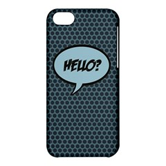Hello Apple Iphone 5c Hardshell Case by PaolAllen2