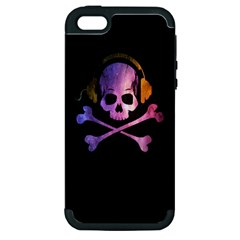 Rock Out With Your Skull Out    Apple Iphone 5 Hardshell Case (pc+silicone) by TheTalkingDead
