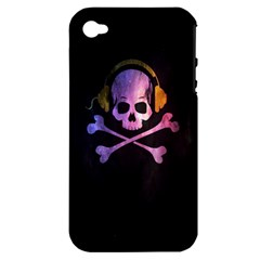 Rock Out With Your Skull Out    Apple Iphone 4/4s Hardshell Case (pc+silicone)