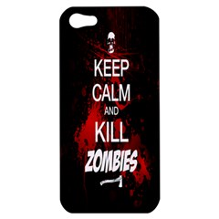 Keep Calm & Kill Zombies Apple Iphone 5 Hardshell Case