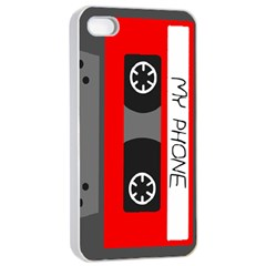 Cassette Phone Apple Iphone 4/4s Seamless Case (white) by TheTalkingDead