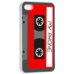 Cassette Phone Apple iPhone 4/4s Seamless Case (White) Front