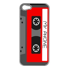 Cassette Phone Apple Iphone 5 Case (silver) by TheTalkingDead