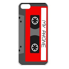 Cassette Phone Apple Iphone 5 Seamless Case (white) by TheTalkingDead