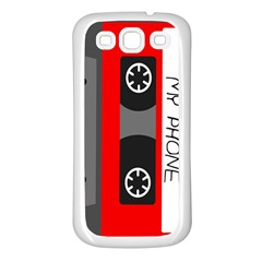 Cassette Phone Samsung Galaxy S3 Back Case (white) by TheTalkingDead