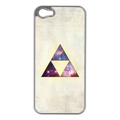 Cosmic Triangles Apple Iphone 5 Case (silver)