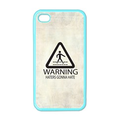 Warning: Haters Gonna Hate Apple Iphone 4 Case (color) by Contest1775858