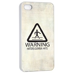 Warning: Haters Gonna Hate Apple Iphone 4/4s Seamless Case (white) by Contest1775858