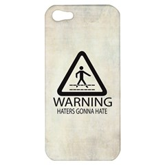 Warning: Haters Gonna Hate Apple Iphone 5 Hardshell Case by Contest1775858