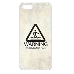 Warning: Haters Gonna Hate Apple Iphone 5 Seamless Case (white) by Contest1775858