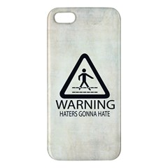 Warning: Haters Gonna Hate Iphone 5s Premium Hardshell Case by Contest1775858