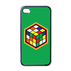 Colorful Cube, Solve It! Apple Iphone 4 Case (black) by ContestDesigns