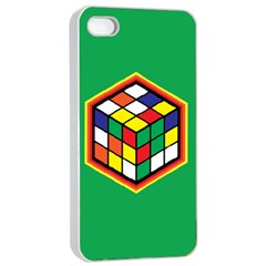 Colorful Cube, Solve It! Apple Iphone 4/4s Seamless Case (white) by ContestDesigns