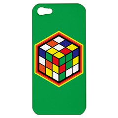 Colorful Cube, Solve It! Apple Iphone 5 Hardshell Case by ContestDesigns