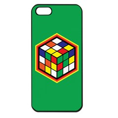Colorful Cube, Solve It! Apple Iphone 5 Seamless Case (black) by ContestDesigns