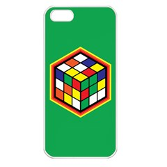 Colorful Cube, Solve It! Apple Iphone 5 Seamless Case (white) by ContestDesigns