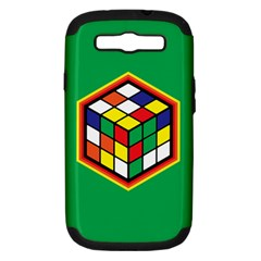 Colorful Cube, Solve It! Samsung Galaxy S Iii Hardshell Case (pc+silicone) by ContestDesigns