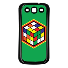 Colorful Cube, Solve It! Samsung Galaxy S3 Back Case (black) by ContestDesigns