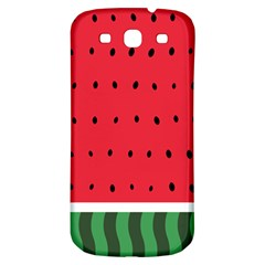 Watermelon! Samsung Galaxy S3 S Iii Classic Hardshell Back Case by ContestDesigns