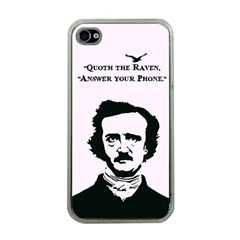 Qouth The Raven   Answer Your Phone  Apple Iphone 4 Case (clear)