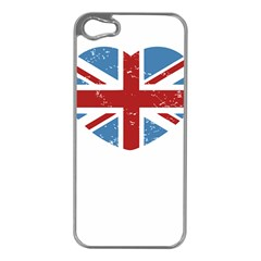 Union Love Vintage Case  Apple Iphone 5 Case (silver) by Contest1778683