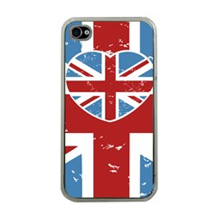 Union Love Vintage Case Design Apple Iphone 4 Case (clear) by Contest1778683