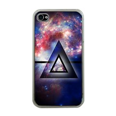 Galaxy Triangle Apple Iphone 4 Case (clear)