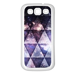 Triangle Tiles Samsung Galaxy S3 Back Case (white) by Contest1775858