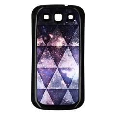 Triangle Tiles Samsung Galaxy S3 Back Case (black) by Contest1775858