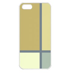 Minimalist Art Apple Iphone 5 Seamless Case (white) by Contest1775858