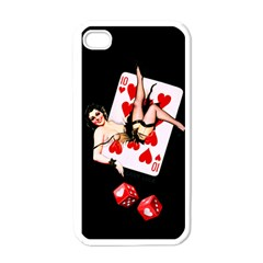Lady Luck Apple Iphone 4 Case (white)