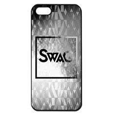 Swag (b&w) Apple Iphone 5 Seamless Case (black)