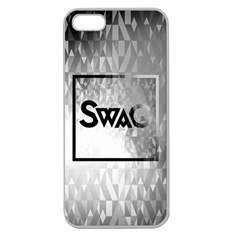 Swag (b&w) Apple Seamless Iphone 5 Case (clear)