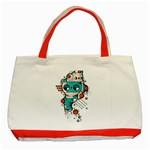 Muscle cat Classic Tote Bag (Red) Front