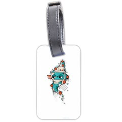 Muscle Cat Luggage Tag (two Sides)
