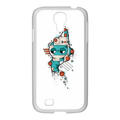 Muscle Cat Samsung Galaxy S4 I9500/ I9505 Case (white)