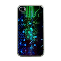 Circuit Board 2 0 Apple Iphone 4 Case (clear)