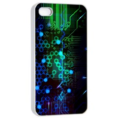 Circuit Board 2 0 Apple Iphone 4/4s Seamless Case (white) by TheTalkingDead