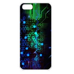 Circuit Board 2 0 Apple Iphone 5 Seamless Case (white)