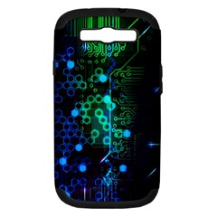 Circuit Board 2 0 Samsung Galaxy S Iii Hardshell Case (pc+silicone) by TheTalkingDead