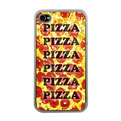 Pizza Pizza Pizza Pizza Apple Iphone 4 Case (clear)