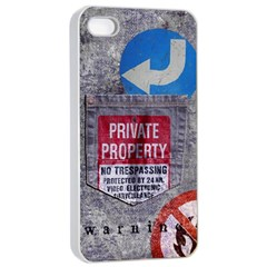 Warning Apple Iphone 4/4s Seamless Case (white) by Contest1761904