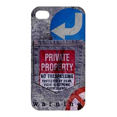 Warning Apple Iphone 4/4s Premium Hardshell Case by Contest1761904