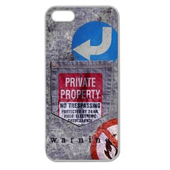 Warning Apple Seamless Iphone 5 Case (clear)