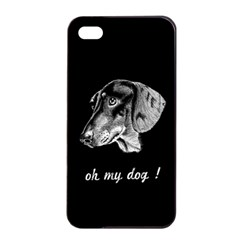 Oh My Dog ! Apple Iphone 4/4s Seamless Case (black)