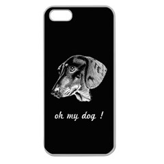 Oh My Dog ! Apple Seamless Iphone 5 Case (clear)
