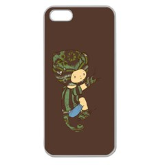 Charlie Apple Seamless Iphone 5 Case (clear) by RachelIsaacs