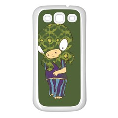 Octavio Samsung Galaxy S3 Back Case (white) by RachelIsaacs